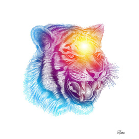 Animal III - Colorful Tiger II / NE