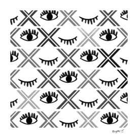 Original Black and White Eyes Design