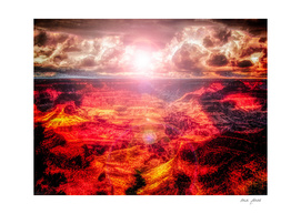 SUN OVER GRAND CANYON