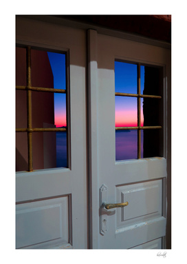 Sunset through the door