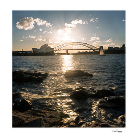 Golden hour in Sydney Harbour