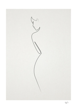 One Line nude