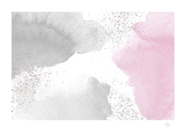Sparkling Watercolour Clouds - Rose Grey
