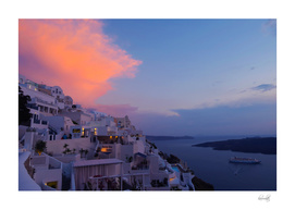 Fira,Sunset,Santorini,Greece