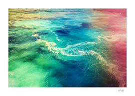 Rainbow sea