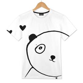 panda in love