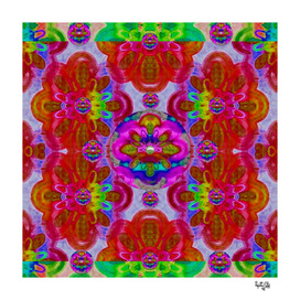 fantasy   flower  pearls in abstract rainbows