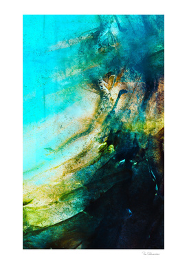 STORMY TEAL ABSTRACT PAINTING