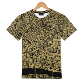 London city map gold