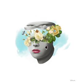 Face with flowers