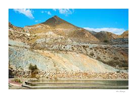 Landscape desert in Almeria, Andalusia, Spain