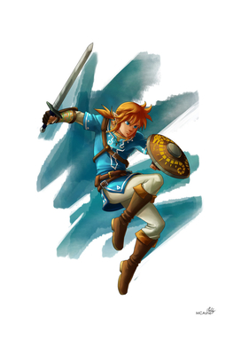 Link (The legend of Zelda Breath of the wild)