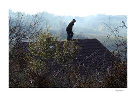 Man on the roof B 2006_1111Fuji0008