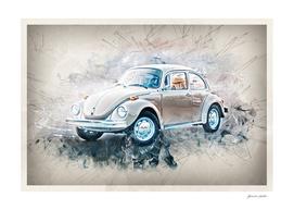 Car - Watercolor, Splash, Grunge