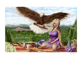 Alice Klinsey on a Summer Picnic