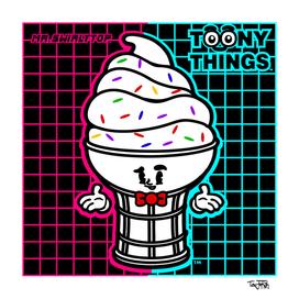 Toony Things ™ Mr. SwirlyTop | Icecream 80s | By TevJokah
