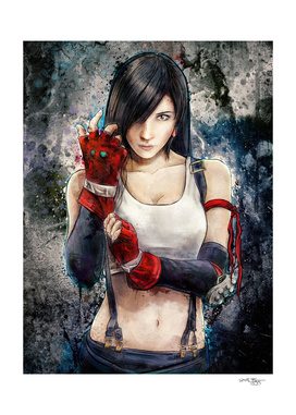 Lady Zero's Tifa Lockhart Painting
