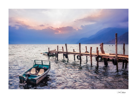 Gorgeous sunset on Lake Atitlan, Guatemala