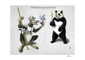 Donkey Xote and Sancho Panda