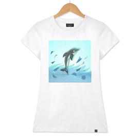 ABSTRACT DOLPHIN OCEAN
