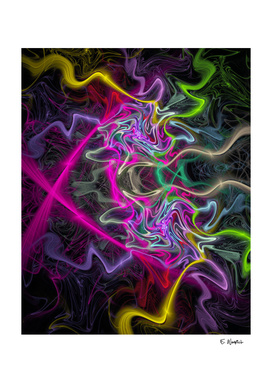 Squiggle of Kolor Fine art abstract print