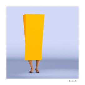 Twisting Yellow Orange Box