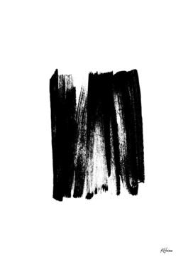 Black and White Brushstrokes