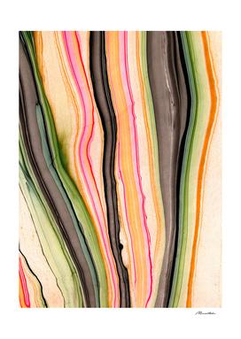 Colorful striped strokes