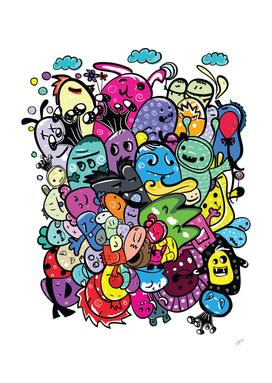Doodle monster friends