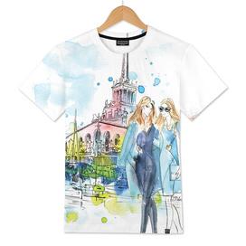 Sochi Seaport Fashion Illustration