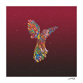 Gallito de las rocas peruvian bird red new color version