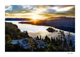 Brilliant Sky at Emerald Bay on Lake Tahoe California