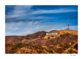 Hollywood Sign in the Hills Above Tinseltown