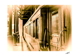 Old train in station....
