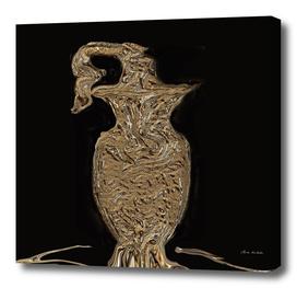 The Golden Scrolling Elegant Coffee Holder