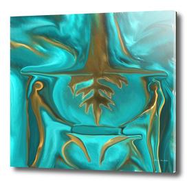 Alien Golden Image Of Antiquity