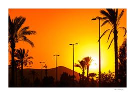 Orange Andalusian sunset