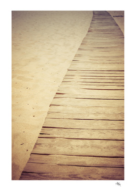 Wooden Beach Sidewalk