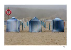 Striped Beach Huts