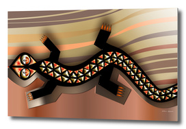 copper/gold lizard abstract.