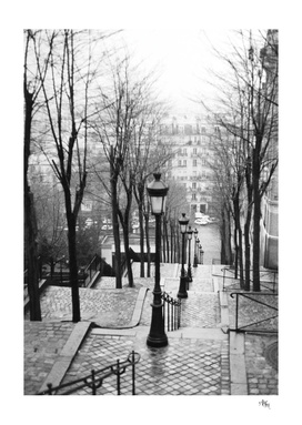 Stairs of Montmartre 1985