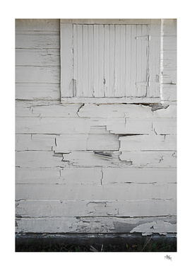 Battered White Door