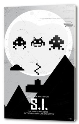 Space invader - ET poster