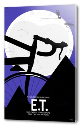 Et falling off bicycle - ET poster