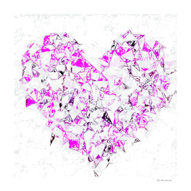 pink heart shape abstract with white abstract background