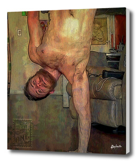 Joey handstand Yoga pose