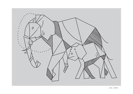 elephant geometric shape