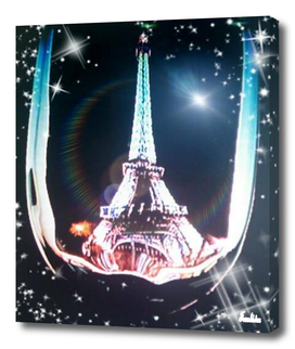 WONDERS THROUGH A WINE GLASS EIFFEL TOWER