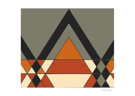 Tribal geometry brown