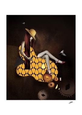 Woman yellow